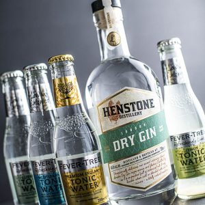 Henstone Gin and Four Fever Tree Tonics